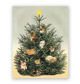 Mincing Mockingbird Cat Ornaments Holiday Greeting Card - The Mincing Mockingbird
