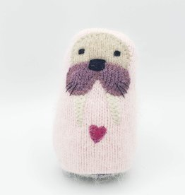 Pinky Walrus Recycled Sweater Sprite Plushie with Rattle
