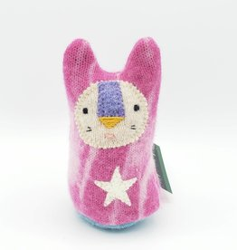 Pinky Bunny White Star Recycled Sweater Sprite Plushie with Rattle