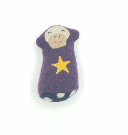 Monkey Star Recycled Sweater Sprite Plushie with Rattle