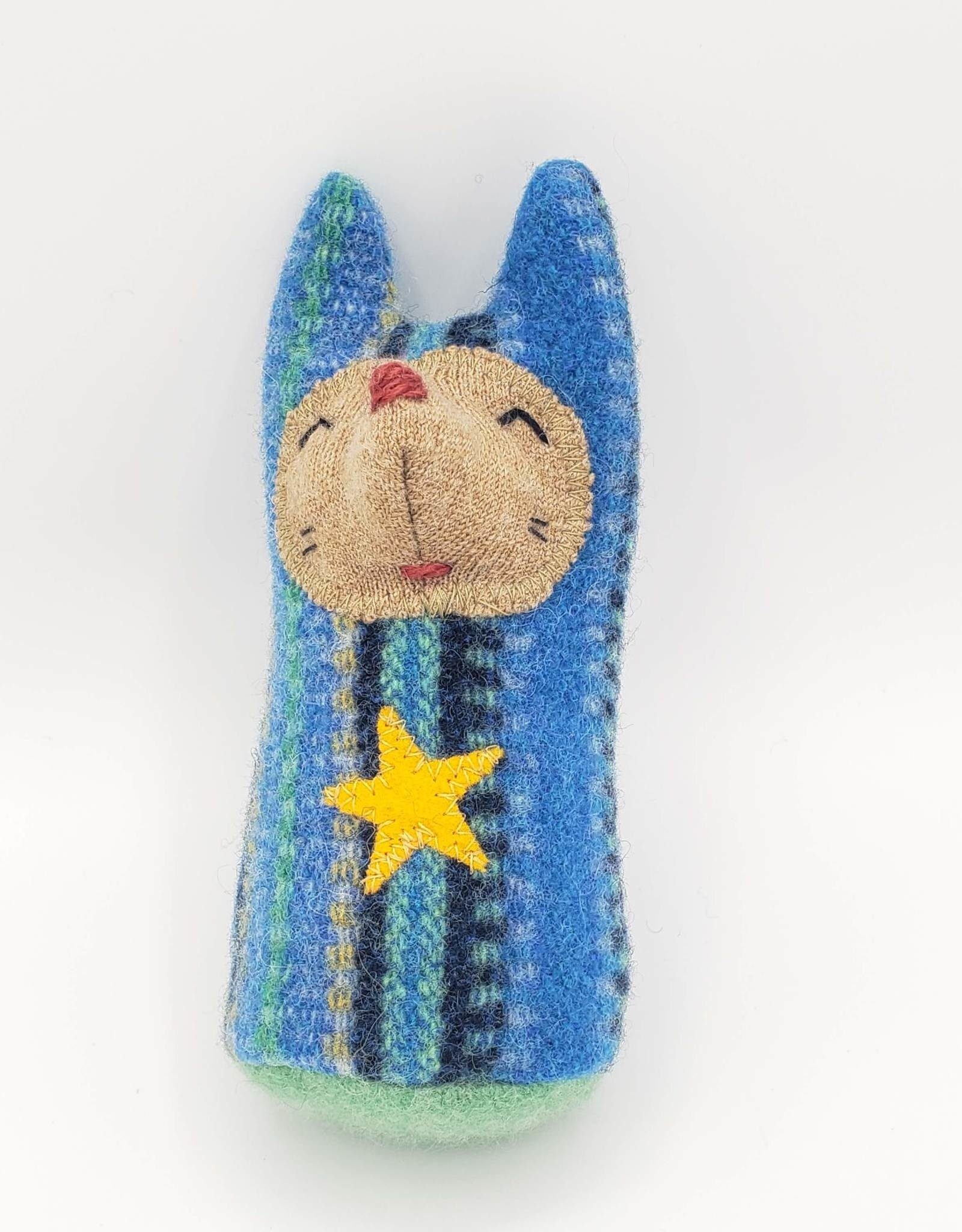 Blue Bunny Recycled Sweater Sprite Plushie