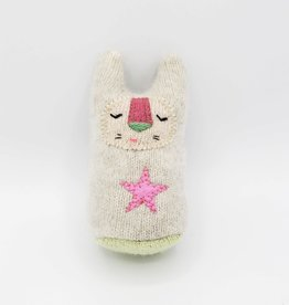Marshmallow Pink Star Recycled Sweater Sprite Plushie
