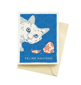 """Seltzer """"Feline Navidad"""" Holiday Greeting Card - Seltzer"""