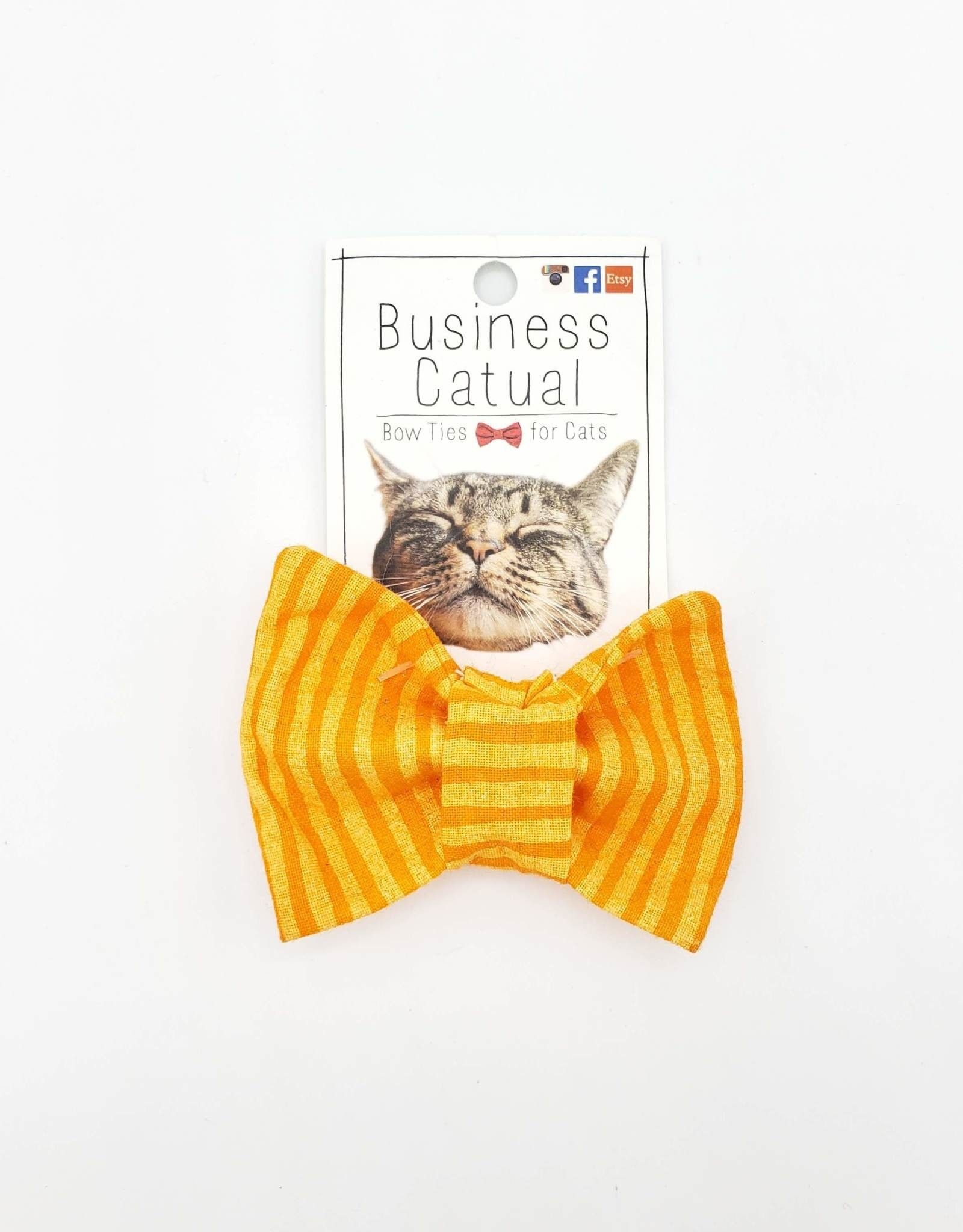Orange Cat / Dog Bow Tie by Business Catual