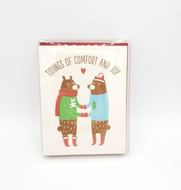 Tidings of Comfort & Joy Holiday Greeting Cards Boxed Set - Fugu Fugu