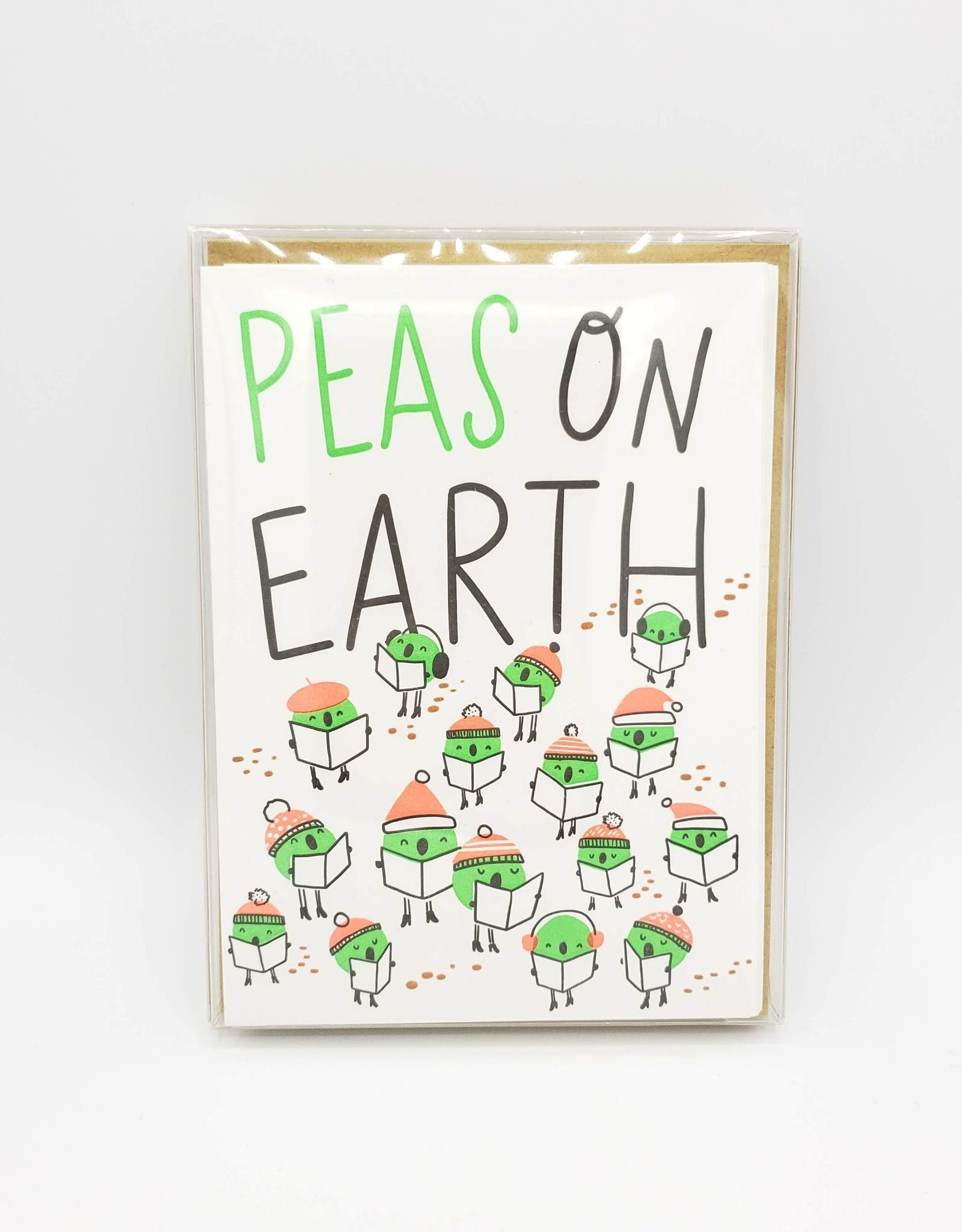 """""""Peas On Earth"""" Holiday Greeting Card Box Set - Hello Lucky"""