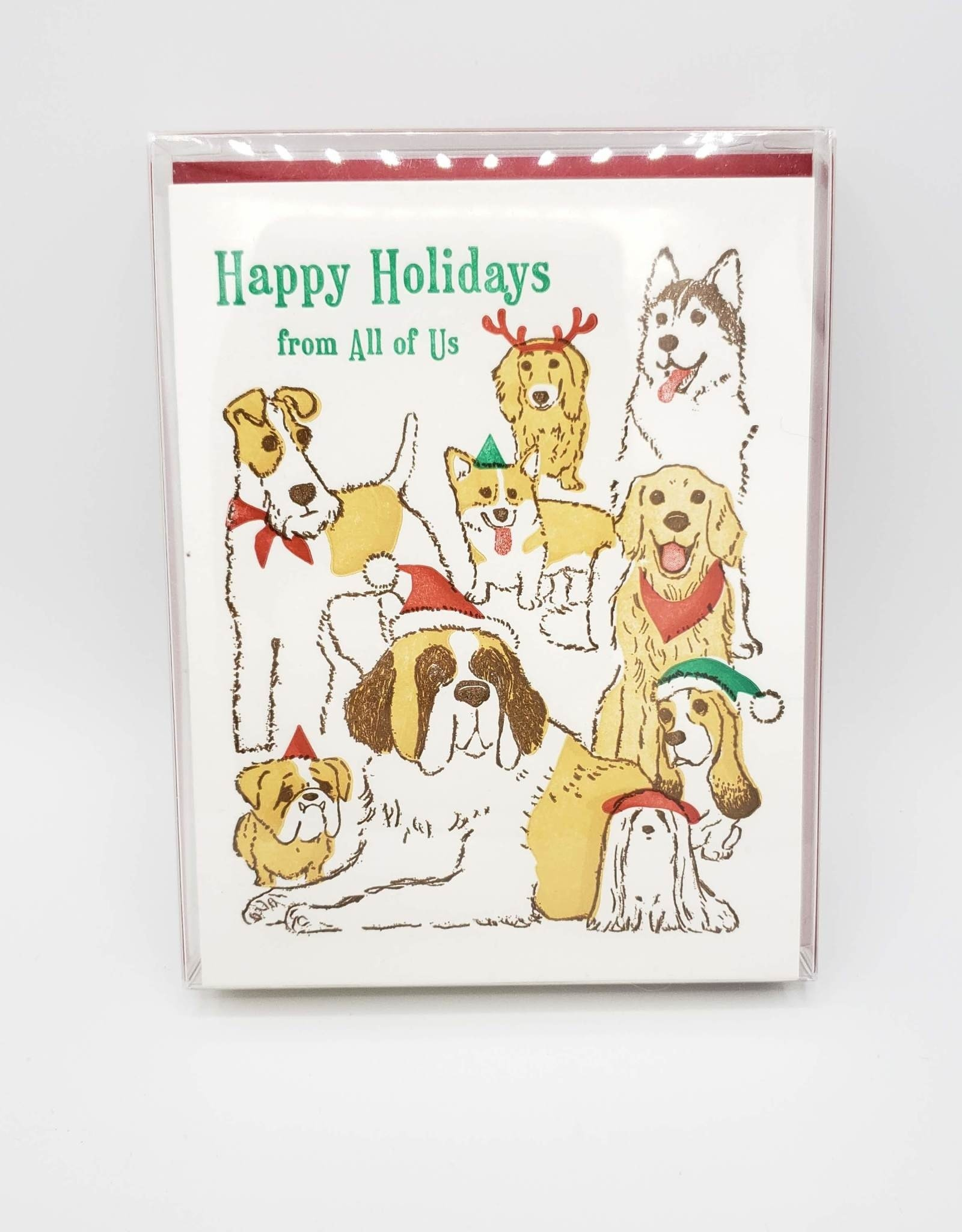 """""""Happy Holidays From All of Us"""" Greeting Card Box Set - Ilee Paper Goods"""