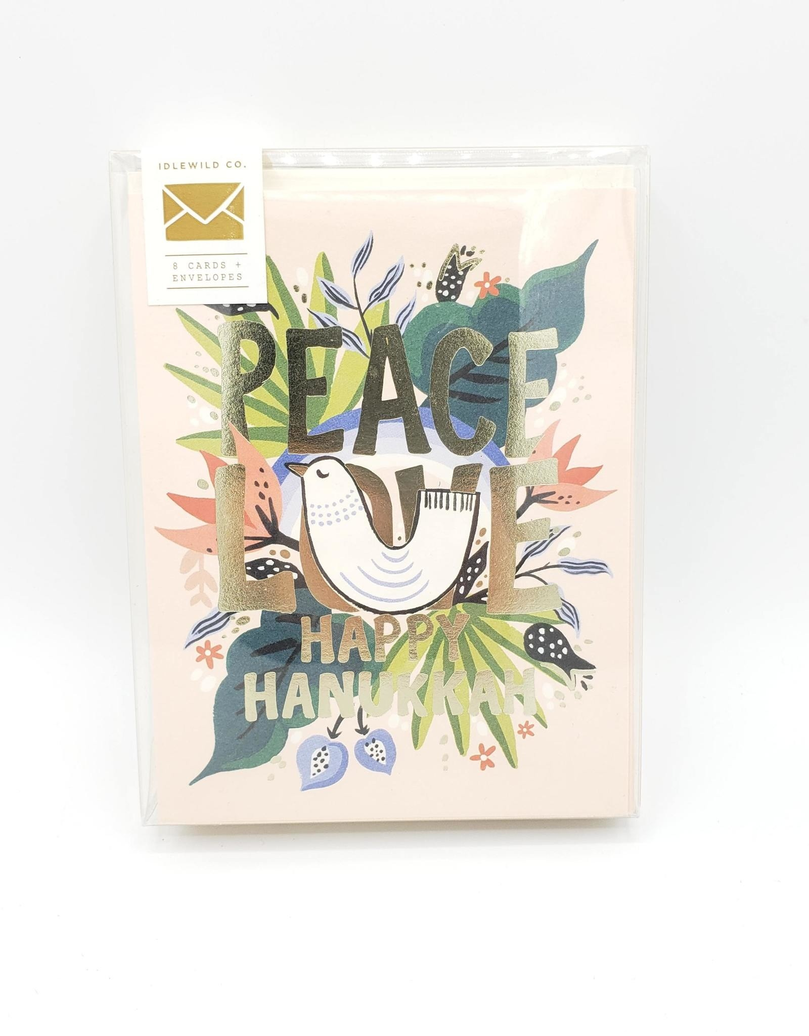 """Peace Love Happy Hanukkah"" Greeting Card Boxed Set - Idlewild"
