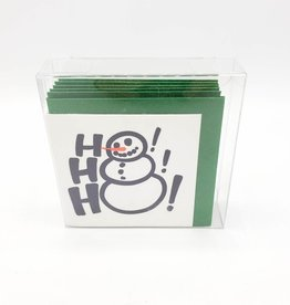 Snowman Ho Ho Ho Tiny Holiday Card Box Set of 6 - Ladyfingers