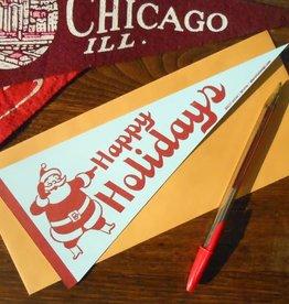 Santa Pennant Holiday Greeting Card - A Favorite Design
