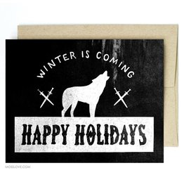 """""""Winter Is Coming"""" Holiday Greeting Card - Band of Weirdos"""