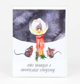 """""""Merry little Christmas""""  Greeting Card - Loose Leaves"""