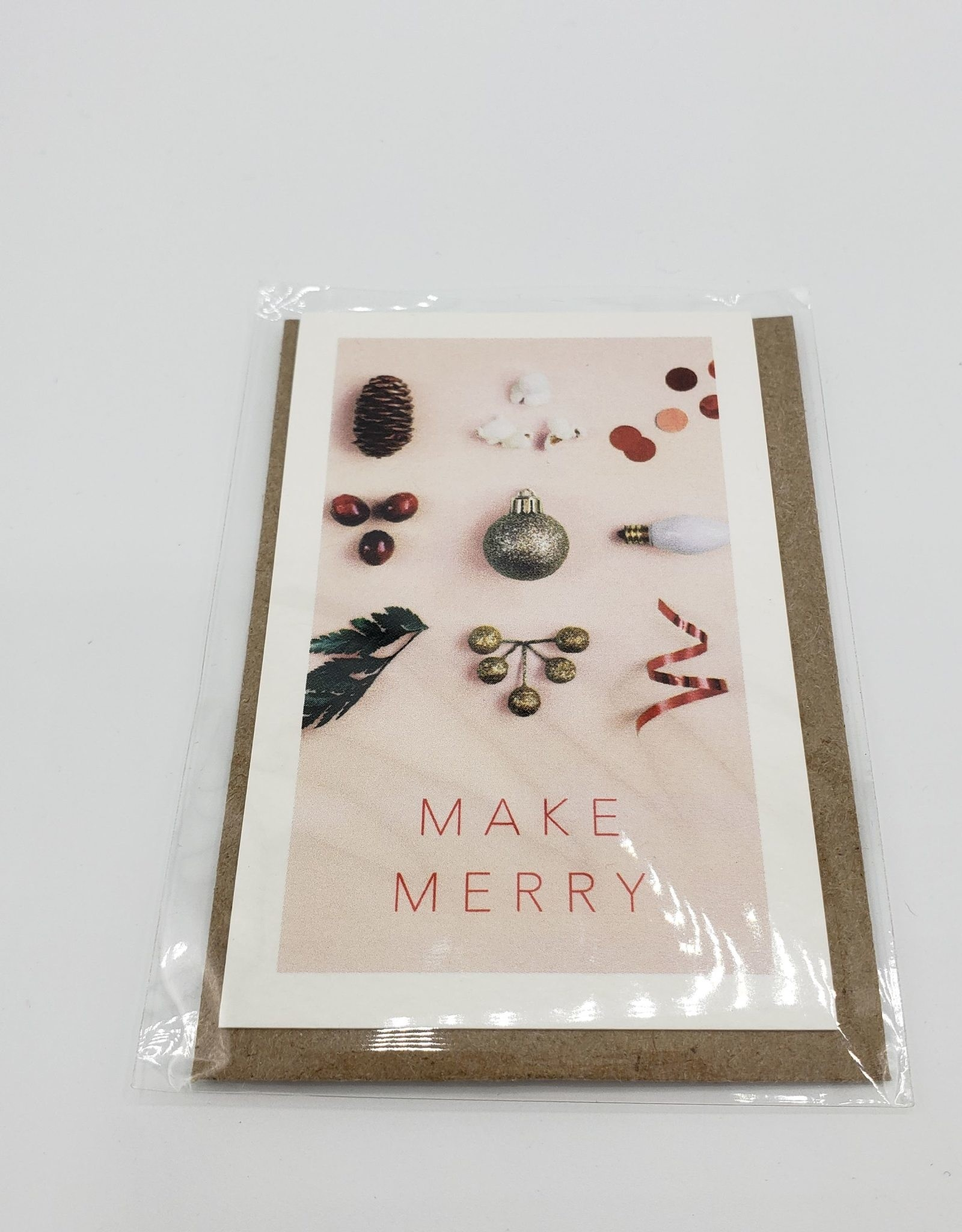 """Make Merry""  Mini Holiday Greeting Card set of 6 - Modern Lore"