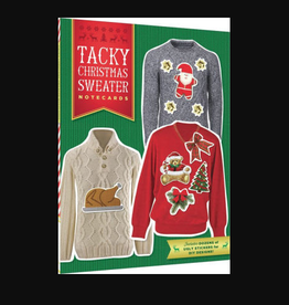 Tacky Christmas Sweater Notecards, 12 Notecards & Envelopes