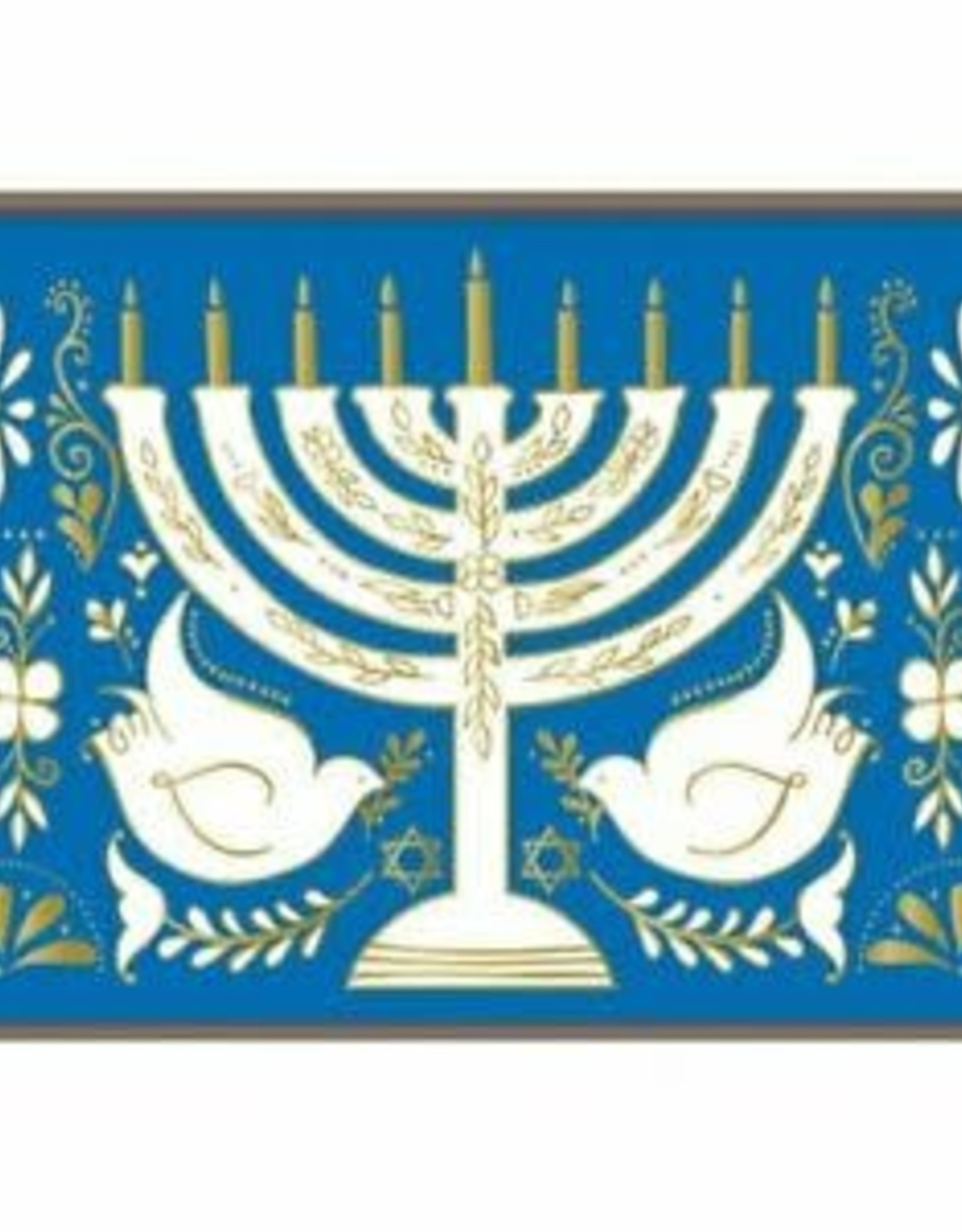 Hanukkah Menorah Large Embellished Notecards