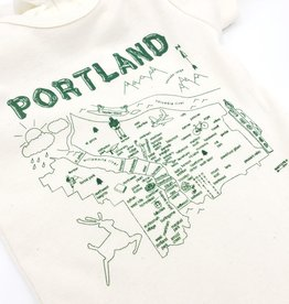 Maptote Portland Map Baby Onesie by Maptote