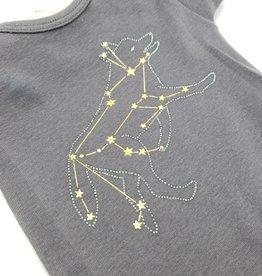 Lupus Constellation Baby Onesie, (3-6 mos.) Grey - Little Lark