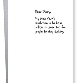 """New Year's Resolution"" Greeting Card - Sapling Press"