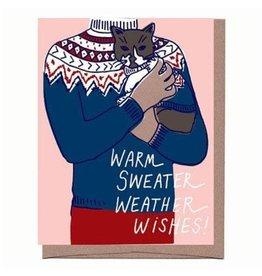 """Warm Sweater Weather"" Holiday Greeting Card - La Familia Green"
