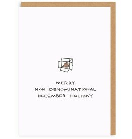 """Ohh Deer """"Merry Non Denominational December Holiday"""" Greeting Card  - Ohh Deer"""
