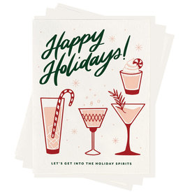 """Happy Holiday Spirits"" Greeting Card - Dahlia Press"