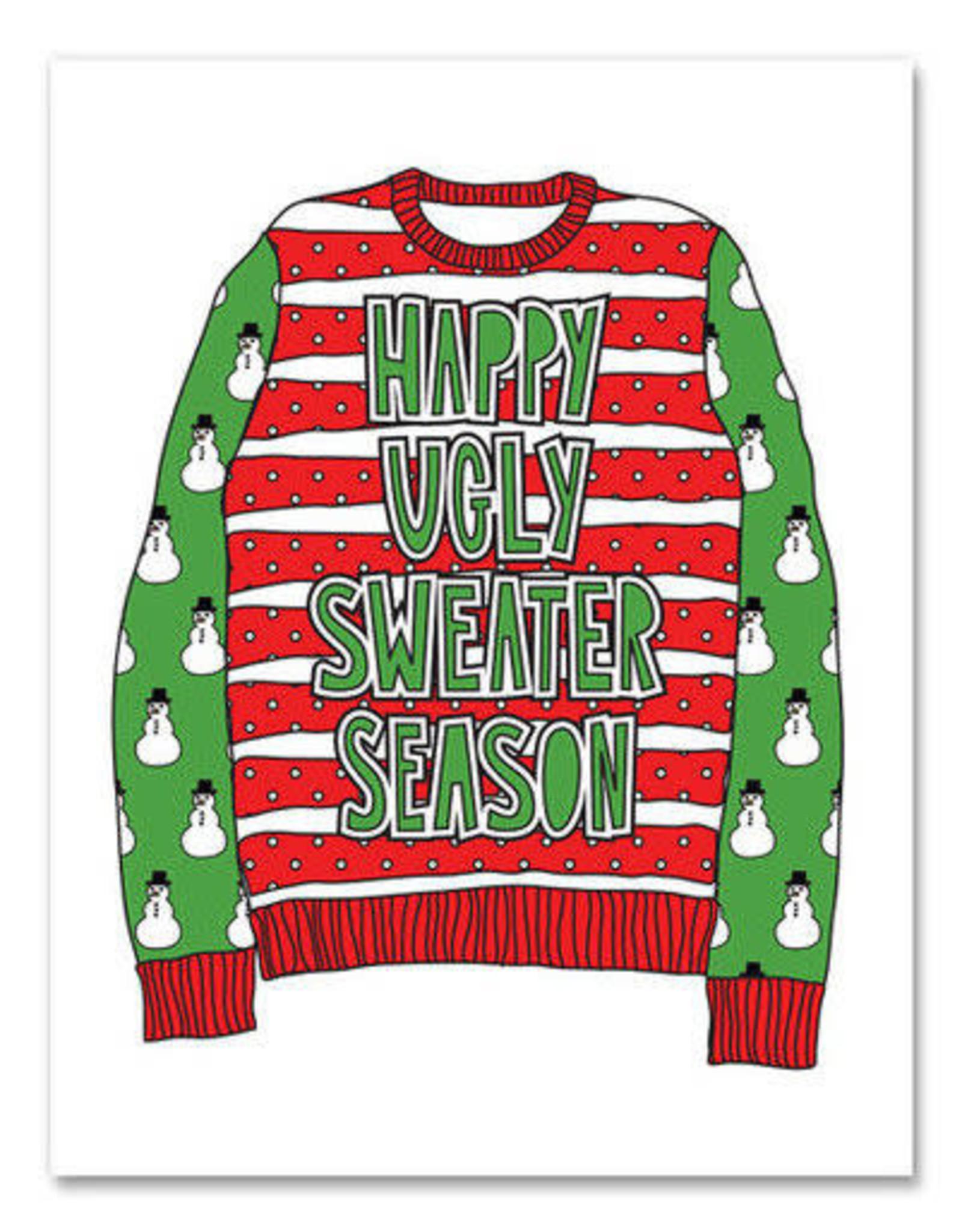 """Happy Ugly Sweater Season"" Holiday Greeting Card - Near Modern Disaster"