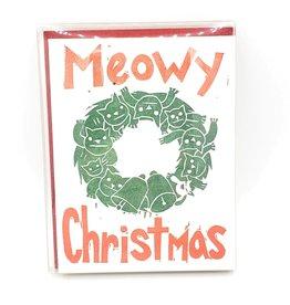 """""""Meowy Christmas"""" Holiday Greeting Card - Papa Llama"""