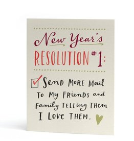 """Emily McDowell """"New Year's Resolution 1"""" Greeting Card - Emily McDowell"""