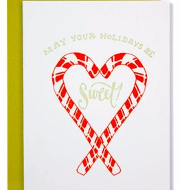 """""""May Your Holidays Be Sweet"""" Greeting Card - Ladyfingers"""