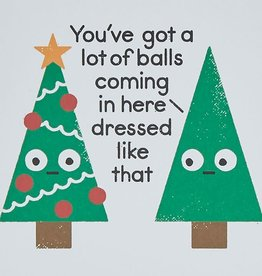 "Ohh Deer ""You've Got a Lot of Balls"" Holiday Postcard - Ohh Deer"