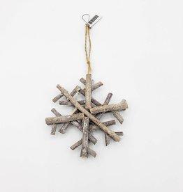 Glittered Wood Snowflake Ornament