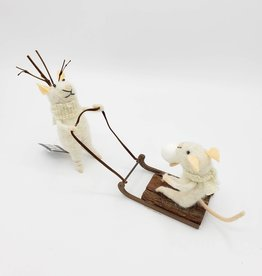 Sledding Mice Ornament