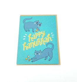 "Allison Cole ""Happy Hanukkah Cats"" Holiday Greeting Card - Allison Cole"