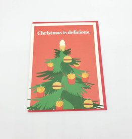 "Seltzer ""Delicious Tree"" Holiday Greeting Card - Seltzer"