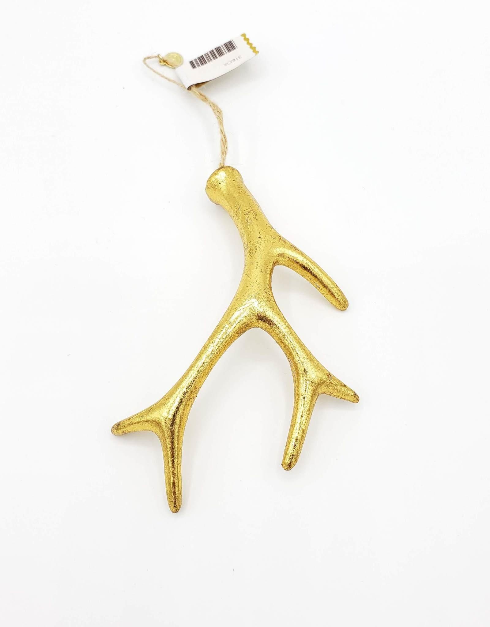 Antler Ornament, Gilded