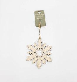 Green Tree Jewelry Star Snowflake Ornament Laser-Cut Wood