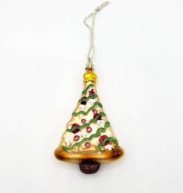 Pizza Tree Ornament, Glass
