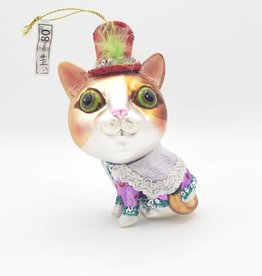 Cat Couture Ornament, Glass