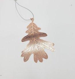 Pierced Copper Leaf Ornament