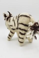 Zebra Plush Ornament, Wool