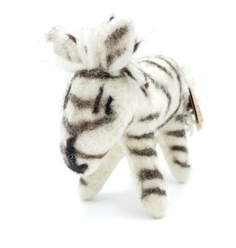 Zebra Plush Ornament, Wool