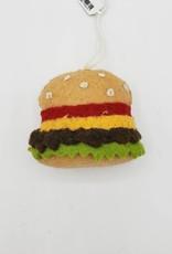 Felted Hamburger Ornament