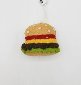 Felted Hamburger Ornament