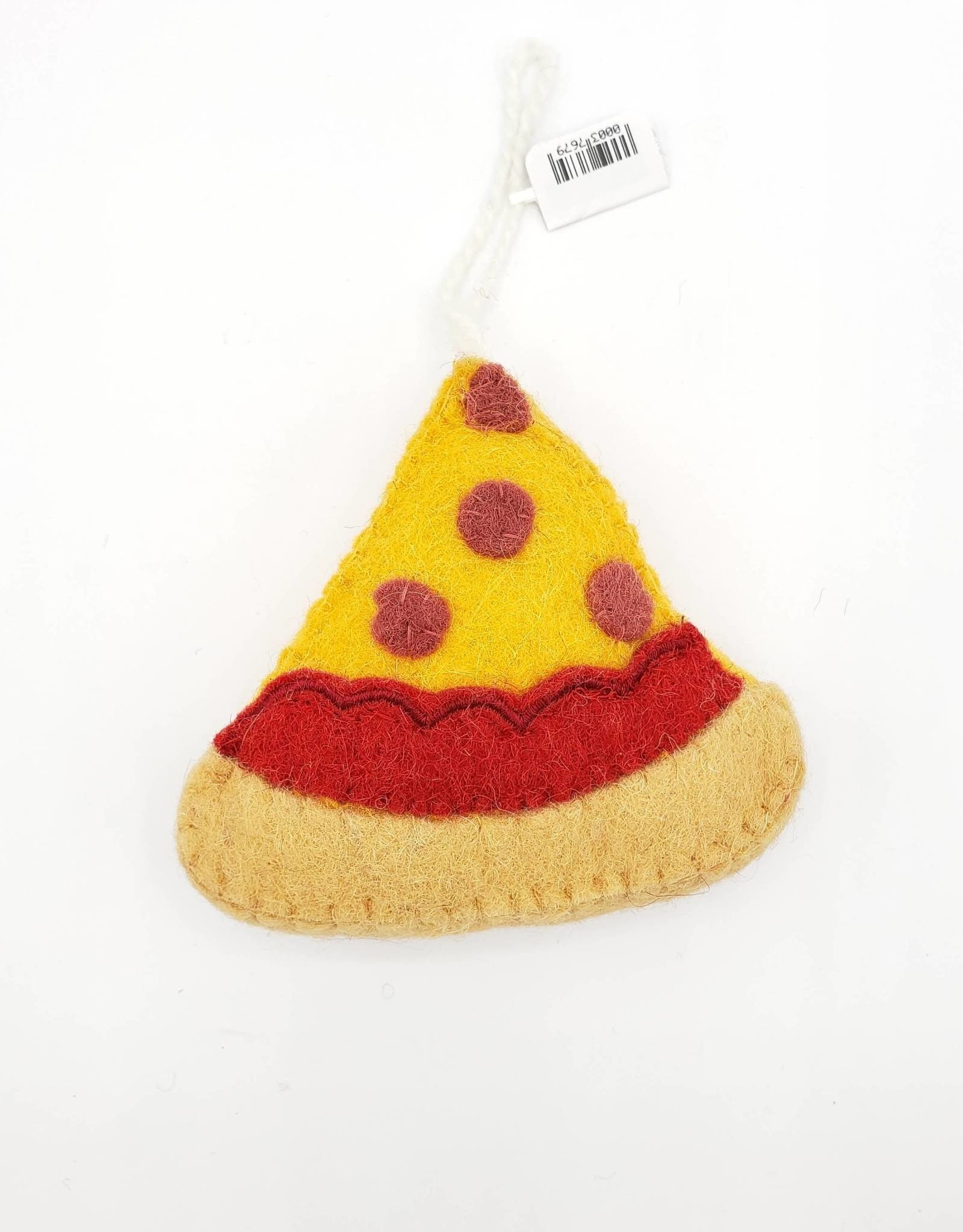 Felted Pizza Ornament