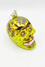 Glass El Muerto Skull Head Ornament
