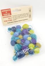 Pom Pom Garland, Colorful Felted Balls, 6 ft