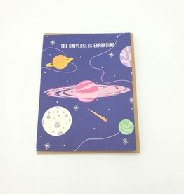 Seltzer The Universe is Expanding Greeting Card - Seltzer
