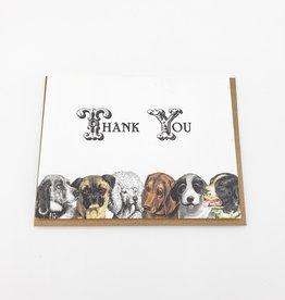 Mincing Mockingbird Dog Lineup Thank You Greeting Card - The Mincing Mockingbird