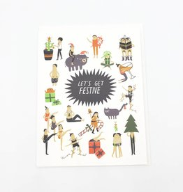 Let's Get Festive Holiday Greeting Card - Laura Berger