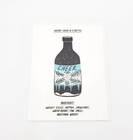 Holiday Cheer In A Bottle Greeting Card - Laura Berger
